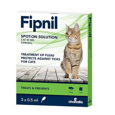 Fipnil Spot On Flea And Tick Treatment For Cats
