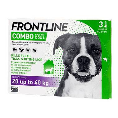 Frontline Spot On Combo Large Dog (20-40kg)