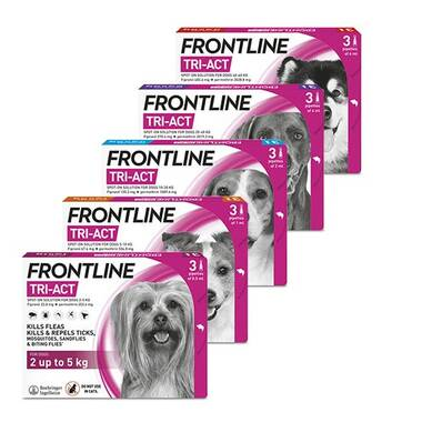 Frontline Tri-Act Spot-On Flea Treatment For Dogs
