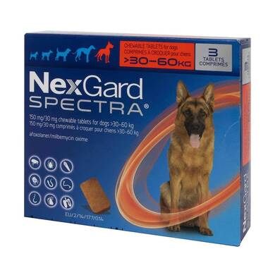 NexGard Spectra Flea And Worm Treatment For X-Large Dogs (30 - 60kg)