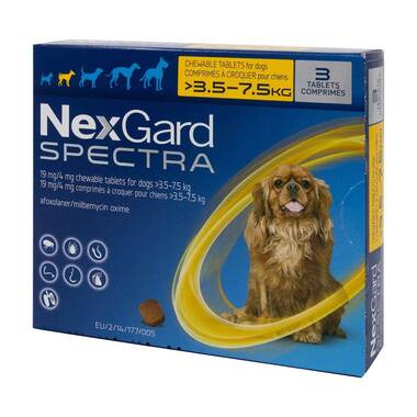 NexGard Spectra Flea And Worm Treatment For Small Dogs (3.5 - 7.5kg)