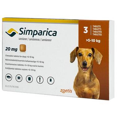 Simparica Palatable Tablets 20mg