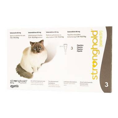 Stronghold Spot On Extra Large Cat 60mg (7.6-10kg)