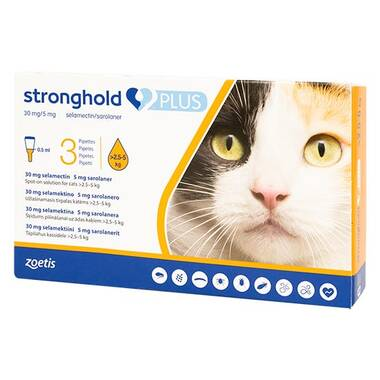 Stronghold PLUS Medium Cat 30mg Spot-on Solution For Cats (PLUS)