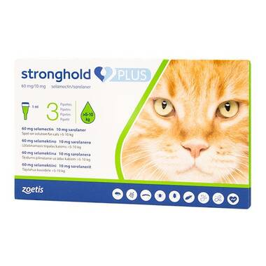 Stronghold PLUS Large Cat 60 Mg Spot-on Solution For Cats (PLUS)